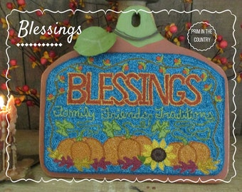 Blessings Punch Needle Pattern