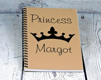 Princess Journal - Personalized Journal - Blank Journal, spiral journal, cute journal, brag book, writing journal, sketchbook, diary