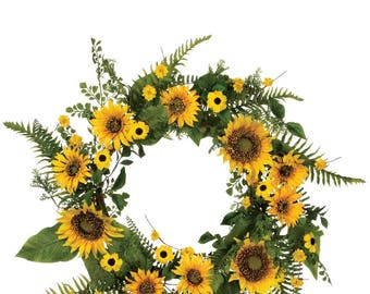 Sunflower Wreath 22""