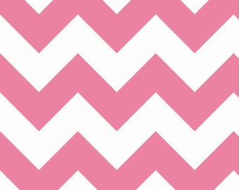 Large Hot Pink Chevron by Riley Blake Designs - Chevron Fabric - Hot Pink Fabric - Fabric by the Yard - Riley Blake Basics Pink Fabric