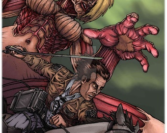 "Attack on Titan - Female Titan  Print 11x17"""