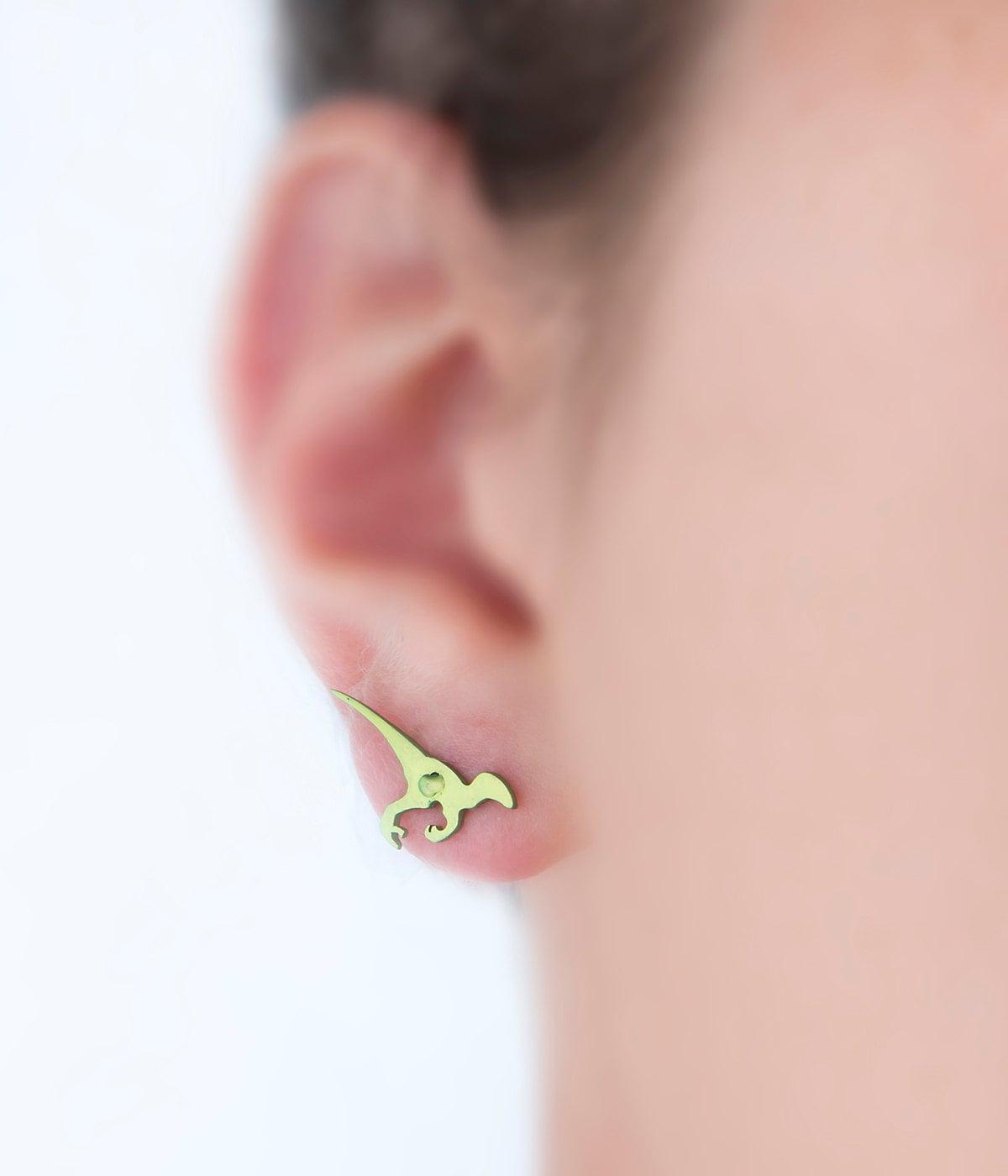 Velociraptor earrings dinosaur earring dinosaur jewelry