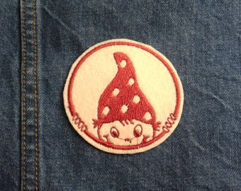Naughty Gnome ~ Vintage Retro   ~ Embroidered Patch ~ Iron-On Sew-On