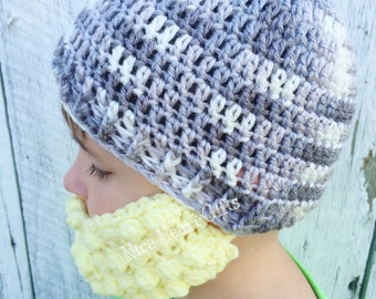 Baby Beard Hat Toddler Beard Hat Children's Beard Hat Custom Beard Hat Crochet Beard Hat