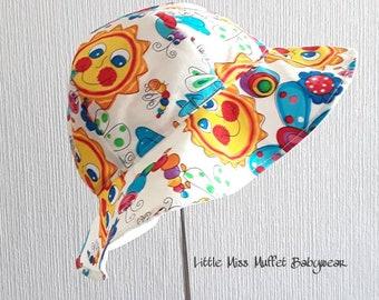 Floppy Sun Hat, Girls Sun Hat, Child Bonnet, 6-12 mth, Summer Hat, Girls Bonnet, Sun Hat, Girls Summer Bonnet, Childrens Sun Hat, Girls Hat