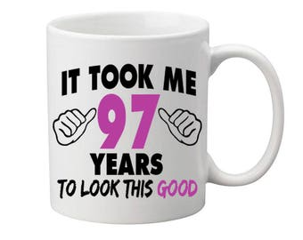 97 Years Old Birthday Mug Happy Birthday Gift Birthday Coffee Mug Coffee Cup Born in 1920 Personalized Mug ALL AGES AVAILABLE