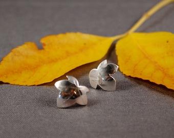 Ivy Leaf Post Earrings