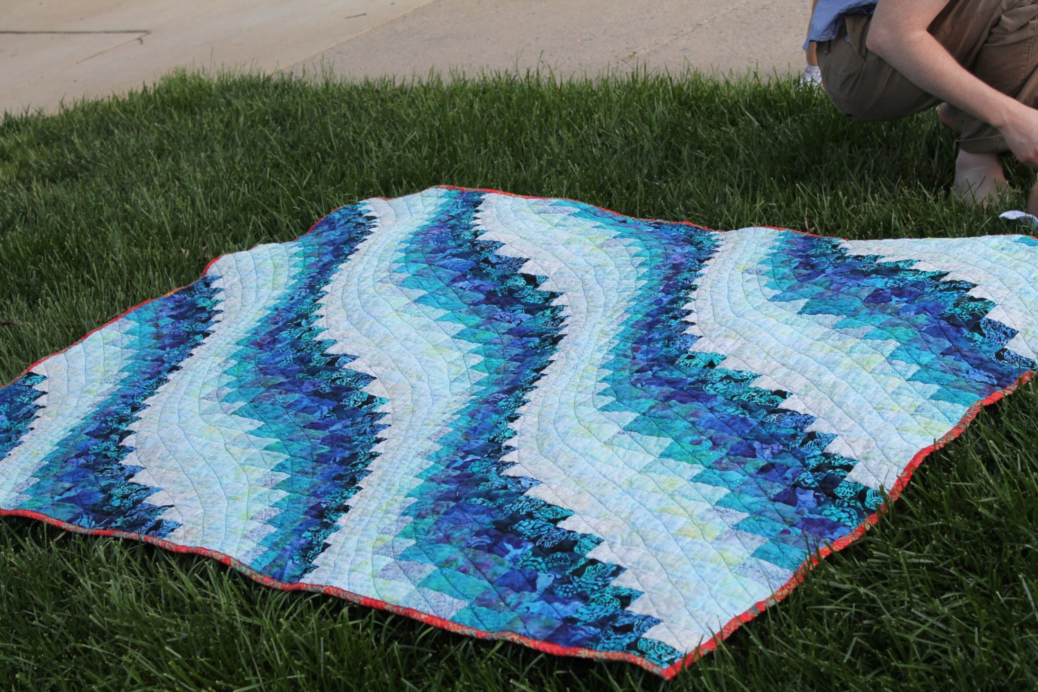 Bargello Quilt Pattern Ocean Waves Lap Full Queen and King : wave quilt pattern - Adamdwight.com