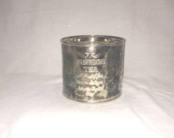 1950s Vintage Silver Plated  English Breakfast Tea Tin