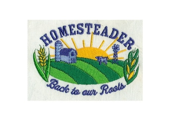 Homesteader - Back to our Roots - Country living Embroidery Design - Instant Digital Download