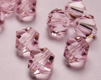 Crystal 6mm Bicone 60 pcs AA quality --sparkle vivid pink