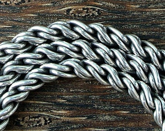 Sterling Silver Bali Necklace 32.3 grams 17 inches