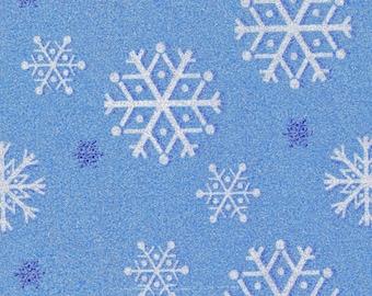 Fat Quarter Blue Snowfall Cotton Quilting Fabric Ideal for Frozen Michael Miller
