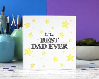 Best Dad Ever, Dad Birthday card, Birthday card, Dad card, Fathers day card,