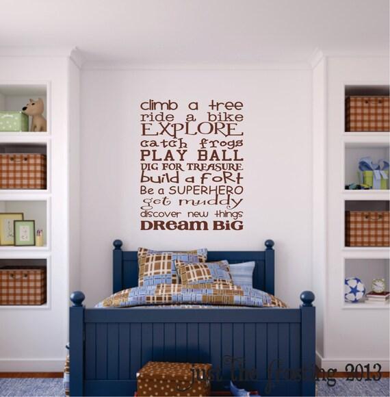 Boys Bedroom Wall Decal Childrens Playroom Wall Art
