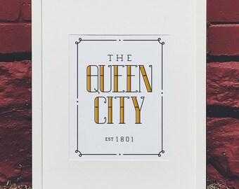 Queen City Hand Lettered Wall Art