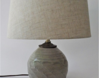 Handmade Pottery Lamp | Ceramic Lamp, Lamp, Home Decor, Unique Pottery Lamp, Table Lamp, Neutral Pottery Lamp, Pottery Lamp Base