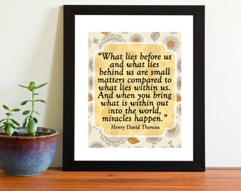 What lies with us quote classroom back to school counseling office teacher nursery child room dorm room inspirational quote belief positive