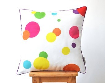 "Decorative Pillow, Geometric Pillow, Modern Throw Pillow, Kids Pillows, Nursery Pillow, Dots Pillow 16"" x 16"""