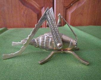 Solid Brass GRASSHOPPER Statue , brass Grasshopper figure, brass grasshopper