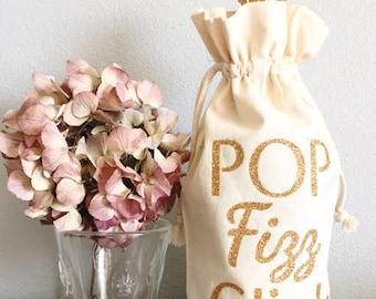 Sac de demoiselle d'honneur proposition champagne - Pop Fizz tintement - demoiselle d'honneur - Champagne