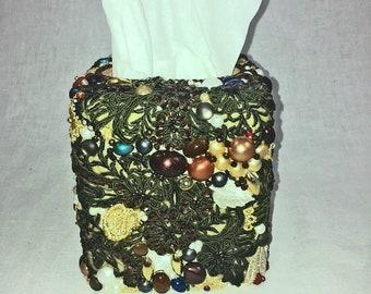 tissue box cover embellished kleenex