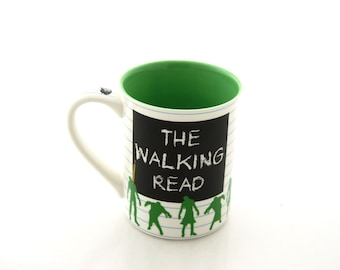 Zombie mug, great gift for Walking Dead Fan, School of Zombies The Walking Read, graduation or teacher gift, 16 oz