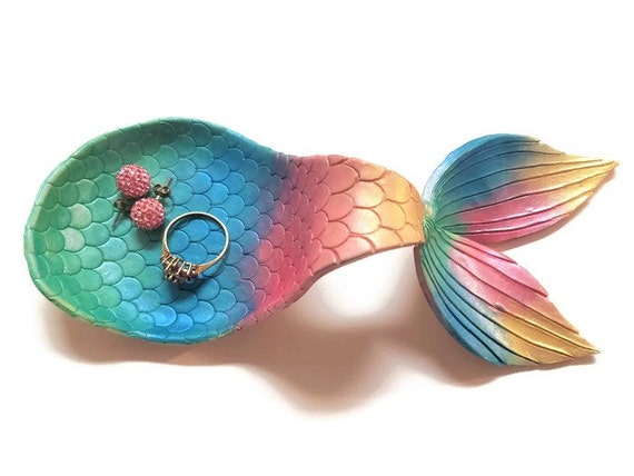 Mermaid Tail Ring Dish Mermaid Jewelry Dish Mermaid Ring