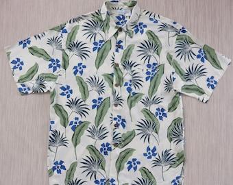 PRINCESS CRUISES Hawaiian Shirt Men Luxury Cruise Vacation Aloha Shirt Tropical Print Casual Wear Vintage Camp - XL - Oahu Lew's Shirt Shack