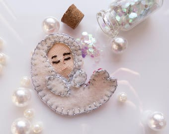 Selkie / soft brooch / song of the sea