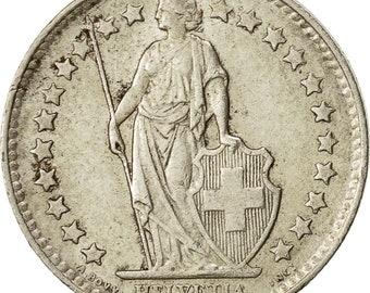 switzerland 1/2 franc 1948 bern ef(40-45) silver km23