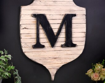 Modern Farmhouse Monogram Entryway Sign Letter Wall Decor Pallet Wall Art Family Crest Wood Letters Wall Pallet Letters Rustic Home Decor