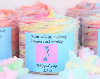 Mermaid Whipped Soap, Whipped Soap, Whipped Body Butter, Party Favors, Kids Birthday Party Favors, Personlized Gifts, Wholesale