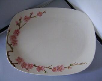 Vintage Poppytrail Peach Blossom Large Platter