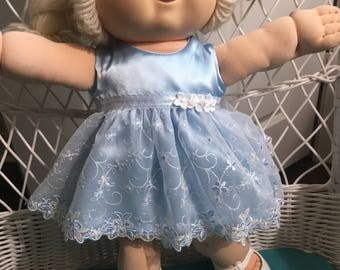 """Light blue fancy dress fits 16-17"""" CPK--CLOTHES ONLY"""