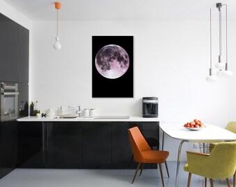Full Moon Poster, Metallic Art Print, Moon Poster, Moon Print, Moon Art