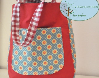 Rounded Tote Bag Sewing Pattern Rounded bottom tote bag Easy tutorial tote bag Bag PDF Sewing Pattern Spring tote bag tutorial 