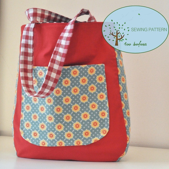Rounded Tote Bag Sewing Pattern|Rounded bottom tote bag|Easy ...
