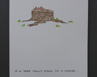 Anniversary Card - If a tree falls down