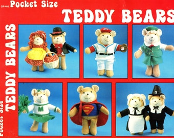 Pocket Size Teddy Bears Patterns for TINY FELT BEARS 1982 Gick Publishing