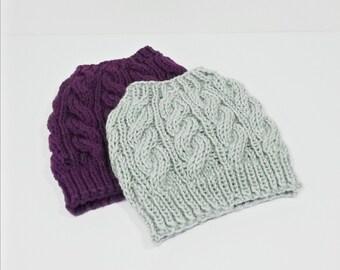 Messy Bun Beanie, Messy Bun Hat, Ponytail Beanie, Pony Tail Hat, Top Knot Hat Beanie, Knit Bun Hat, Running Hat, Valentines Day Gift for Her