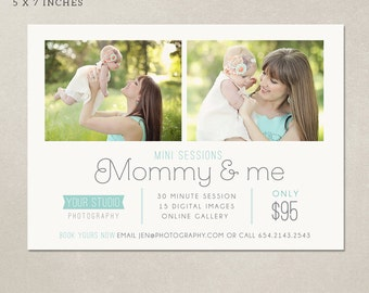 Mother's Day Mini Session template - Marketing board Mommy & me MMM001 - PSD Digital file