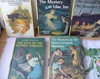 Nancy Drew Books Bookworm Gift For Reader, Vintage Books, Old Books, Book Lovers Gift, Book Lot