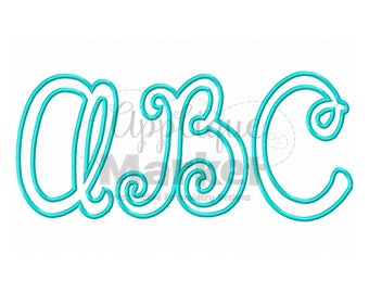 Machine Embroidery Design Happy Day Applique Alphabet Font INSTANT DOWNLOAD