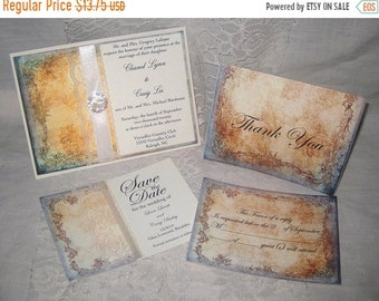 Wedding Sale Lace Wedding Invitations, Clara Collection Set French Market Elegant Package Shabby Chic, Haute Couture