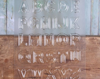 "Alphabet Chocolate Molds, Letter Candy Molds, 1.25"" Alphabet Candy Molds, Chocolate Candy Moulds, Candy Moulds, Chocolate Moulds"