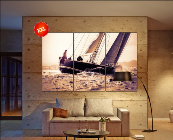 sail boat  canvas wall art sail boat wall decoration sail boat canvas wall art art sail boat large canvas wall art  wall decor