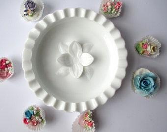 Vintage Fenton Milk Glass Hobnail Pipe Ashtray - Candy Dish