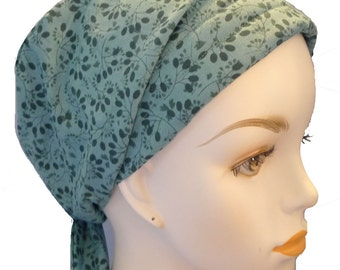 Teal Floral Cancer Hat Chemo Scarves Head Wrap Hair Loss Turban Head Cover Bad Hair Day Hat