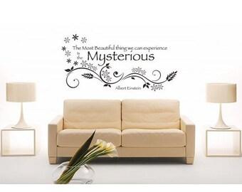 20% OFF Summer Sale Mysterious Albert Einstein wall decal, sticker, mural, vinyl wall art